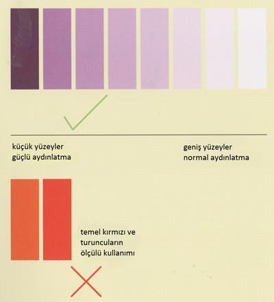 <p><strong>10.</strong> Renk kullanımında önemli noktalar<br />  Kaynak: Kotnik,2011</p>