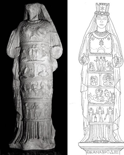 <p><strong>10. </strong>Tapınakta bulunan Afrodit  Heykeli.</p>