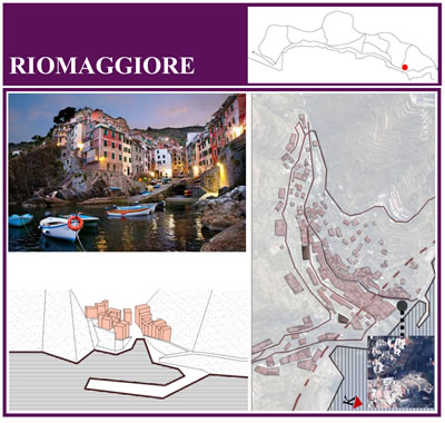 <p><strong>10.</strong> Riomaggiore kasabasına ait  harita-çizim-görsel matrisi</p>