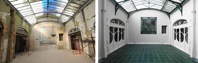 <p><strong>10.</strong> Kış  bahçesinin restorasyon öncesi ve sonrası durumu</p>
