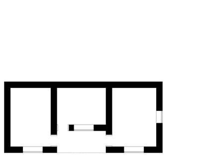 <p><strong>10a.</strong> Trakya'da yoğun olarak kullanılan tek ev plan tipi<br />(Kaynak:  Muratlı, 2004)</p>