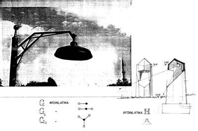 <p><strong>10b. </strong>Yol kaplamaları dışında aydınlatma elemanlarının tasarımı ve  benzeri pek çok konuda katkı sunmuştur.<br />   Kaynak: Hülya Yalçın</p>