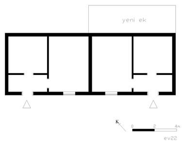 <p><strong>10b.</strong> Trakya'da yoğun olarak kullanılan ikiz ev plan tipi<br />(Kaynak:  Muratlı, 2004)</p>