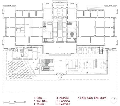<p><strong>11.</strong> Giriş kat planı<br />   Çizim: Benthem Crouwel  Architects</p>