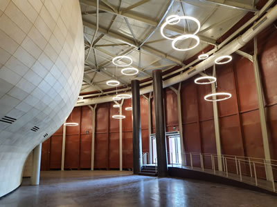 <p><strong>11. </strong>Müze Gazhane  içerisinde tiyatro salonu lobisi<br /> Kaynak: İTÜ proje ekibi arşivi</p>