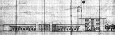 11. Nafia Vekâleti antetli çizim, kente bakan cephe. (Kaynak: TCDD, 1937)