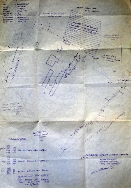 Resim 11. Çanakkale Tusan Motel, vaziyet planı, tapu eki (Kaynak: Yılmaz Arşivi)
