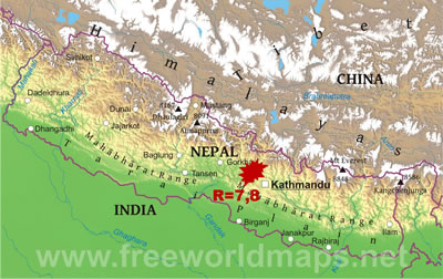 <p><strong>Resim 1.</strong> Nepal Haritası</p>