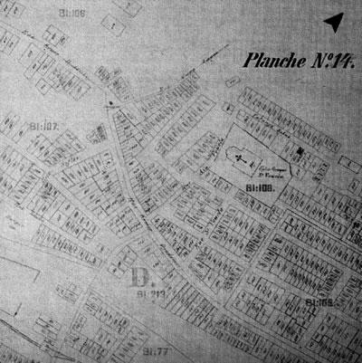 <p><strong>Resim  1.</strong> 10 Kasım 1905  tarihli sigorta planı- pafta:14<br />Kaynak: Atay, 1998, s.68.</p>