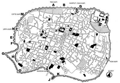 <p><strong>1.</strong> Diyarbakır Suriçi 1930'lar Gabriel  Planı</p>