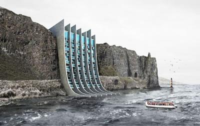 <p><strong>1.</strong> Yunan mimar Spiros Koulias ın tasarladığı proje, deniz  yoluyla ülkelerinden göç eden kitlelere barınma sağlamayı hedefliyor.<br />