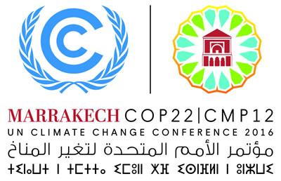 <p>Birleşmiş  Milletler İklim Değişikliği Çerçeve Sözleşmesi ve COP22 Logoları </p>