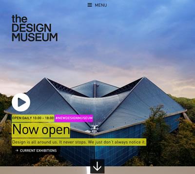 <p><strong>1. </strong>Tasarım  Müzesinin web sayfası bu fotoğrafla açılıyor. <br />designmuseum.org