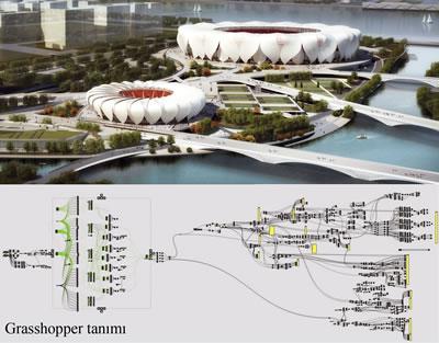 <p><strong>1.</strong> Hangzhou Olimpik Spor Merkezi<br />Kaynak: www.nbbj.com/work/hangzhou-stadium [Erişim: 13.05.2016]