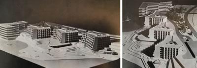 <p><strong>12. </strong>Yapı Kredi  Bankası Bayramoğlu Dinlenme Tesislerine ait avam proje maketi görselleri<br /> Kaynak: Tekeli,  Doğan ve Sisa, Sami, 1979, ss.159.</p>