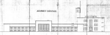 12. Uygulanan çizim, kente bakan cephe. (Kaynak: TCDD, 1937)