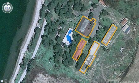Resim 12. Çanakkale Tusan Motel, hava fotoğrafı kullanılarak düzenlenmiş kroki (Kaynak: Google Earth)