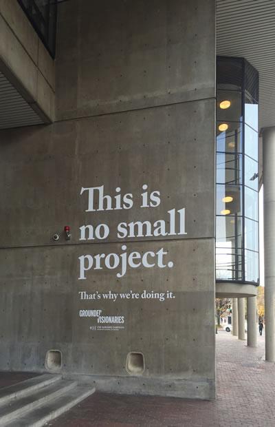 <p><strong>1. </strong>Harvard GSD duvar yazısı <br />Fotoğraf: D. G. Özer </p>