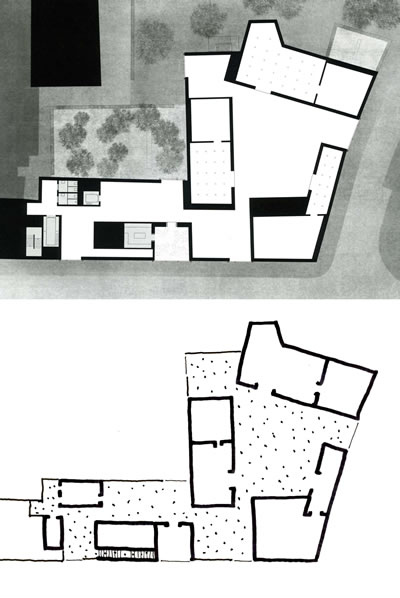 <p><strong>12.</strong> Kolumba Müzesinin ana kat planı ve yorumu <br />  Kaynak: Durisch, 2014b,  s.169. Çizim: Mehmet Kerem Özel</p>