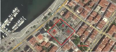 <p><strong>1.</strong> Çanakkale İl Özel İdaresi ve Belediyesi Sosyal Tesisleri Vaziyet Planı, 2014.  A: Prof. Dr. Türkan Saylan Sosyal Tesisleri, B ve C: Mehmet Akif Ersoy İl Halk  Kütüphanesi, D: Otopark<br />   Kaynak: Yandex Haritalar</p>