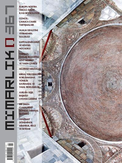 <p><strong>1.</strong> Europa Nostra 2012 Tarihî Yapıtların  Onarımı ve Korunması Kategorisi Ödülünü alan Balat İlyas Bey Külliyesinin kapağa  taşındığı 367. Eylül-Ekim 2012 sayısı</p>