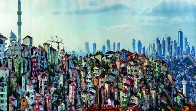 <p><strong>1. </strong>387. Ocak-Şubat 2016  sayısının kapağında da kullanılan Murat Germenin Muta-Morfoz serisinden bir  çalışma. İstanbul, Küplüce #01, 2013</p>