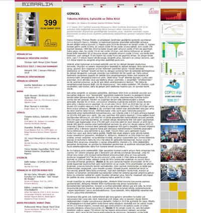 <p><strong>1. </strong>Derginin  birkaç küçük dokunuşla güncellenen web sitesi. Sol üstte bulunan sarı buton ile  derginin tamamına ait pdf dosyasına, makale başlıklarının sağ üstündeki pdf  butonu ile o makalenin olduğu sayfaya ulaşmak mümkün kılındı.</p>