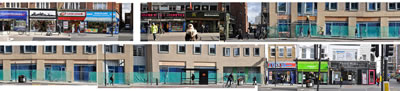<p><strong>1</strong>. Türkiyeli göçmenlerin yoğun olarak bulunduğu  Dalston bölgesinde yürütülmekte olan bir rezidans projesinin ölçeği hakkında  fikir veren cadde görüntüsü.<br /> Fotoğraf ve  kolaj: Ceren Hamiloğlu. </p>
