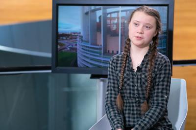 <p><strong>1. </strong>Eylemleri ve  açıklamalarıyla sesini uluslararası ölçekte duyuran iklim aktivisti Greta  Thunberg.</p>