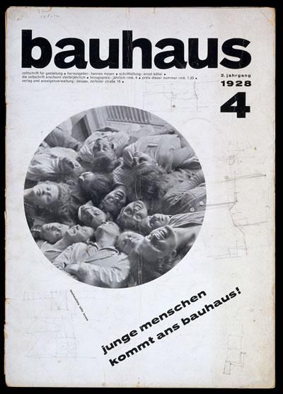 <p><strong>1</strong><strong>.</strong> <em>Bauhaus</em> dergisinin  kapağı, 1928.</p>
