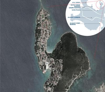 <p><strong>1.</strong> Proje Alanı olan Paşalimanı bölgesinin hava fotoğrafı ve  ulaşım diyagramı <br />   Kaynak:  Yazar tarafından üretilmiştir. </p>