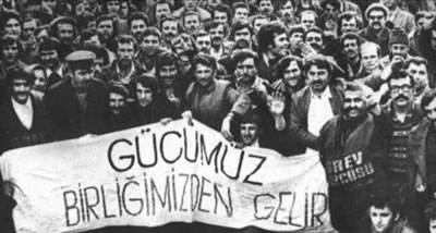 "<p><strong>1. </strong>""Gücümüz  Birliğimizden Gelir"" afişi,<strong> </strong>15-16 Haziran 1970<strong></strong></p>"