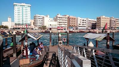 <p><strong>13.</strong>Bur  Dubai abra iskelesi ve Deira Bölgesi su kıyısındaki yapıların görünümü</p>