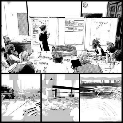 <p><strong>1. </strong>Mimarlık  eğitiminin çeşitli yüzleri: jüriler<br /> Fotoğraf: Nazlı Arslan<strong></strong></p>