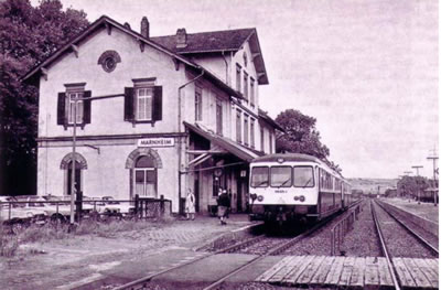 <p><strong>Resim 1.</strong> Marnheim  İstasyonu / Yolcu Binası (1871 - 1874) Almanya <br /> Kaynak: Yavuz, 2005</p>