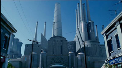 <p><strong>13. </strong>Charlie'nin Çikolata  Fabrikası'nda fabrika ve kent<br />(Kaynak: URL2)</p>