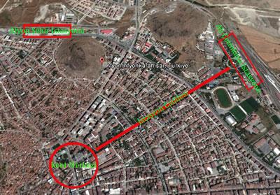 14. Ali Çetinkaya İstasyonu ile kent merkezi bağlantısı.