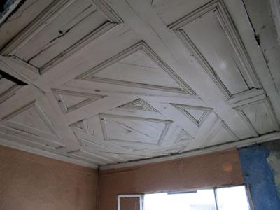 <p><strong>14. </strong>C yapısı ahşap tavanı, 12.02.2013.</p>