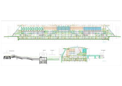 <p><strong>14b.</strong> Ankara YHT Garı 1.bodrum kat planı ve  kesitleri <br /> Kaynak: TCDD, 2021</p>