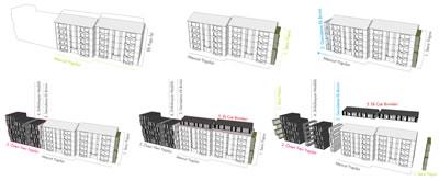 <p><strong>16.</strong> Mevcut yapıya eklemlenen farklı programlar için üretilen  modüller</p>
