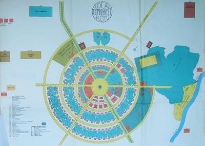 """<p><strong>1.</strong> K.  Dirik tarafından bir mimara hazırlatılan ve 1937 yılında A. Afet İnan'a verilen  """"İdeal Cumhuriyet Köyü"""" projesi <br />(Kaynak:  İnan, 1972, ek harita)</p>"""