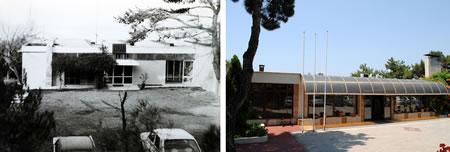 Resim 17. Çanakkale Tusan Motel, giriş bloğu; sol 1978, sağ 2010 (Kaynak: Yılmaz ve Tuna Ultav Arşivi)