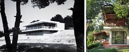 Resim 18. Çanakkale Tusan Motel, restoran cephesi; sol 1978, sağ 2010 (Kaynak: Yılmaz ve Savaşır Arşivi)
