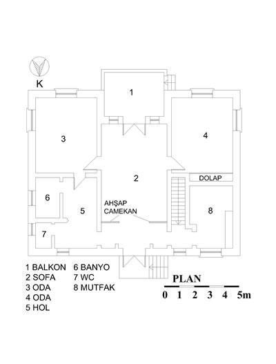 <p><strong>19.</strong> İlk yapılan tek katlı öğretmen evi  planı</p>