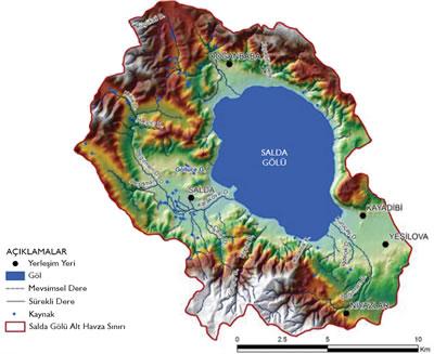 <p><strong>1a. </strong>Salda Gölü ve yakın çevresi<strong></strong></p>
