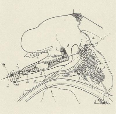 <p><strong>1a. </strong>Katmanlaşma (Orj. <em>Sichtung</em>) durumunun iki ayrı metafor  kullanılarak anlatılması.<br />  Kaynak: Ungers, O. M.,  2011, <strong>Morphologie: City Metaphors</strong>,  Walther König Publishing, Köln.</p>
