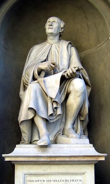 <p><strong>1b.</strong> Anvers  Katedrali nin mimarı Pieter Appelmans ve babası Jan Appelmans ile rönesans  dönemi mimarı Filippo Brunelleschi nin heykelleri</p>