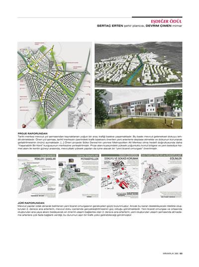 """<p><strong>1c.</strong> 2015, """"Söke  Belediyesi İmar Planlamasına Esas Kentsel Yenilemesi"""", <strong>Mimarlık</strong>, sayı:385, ss.51-53.</p>"""