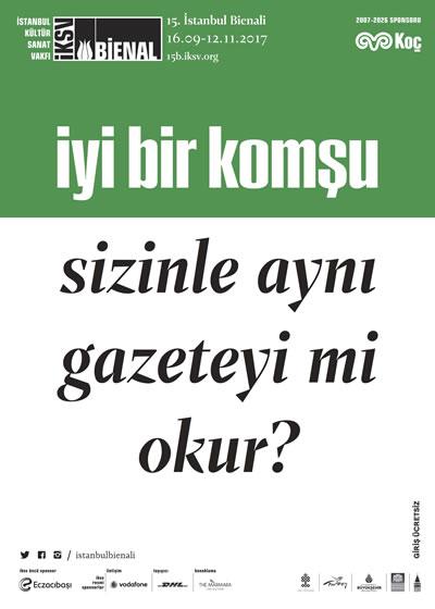 <p><strong>1e.</strong></a> 15. İstanbul Bienali posterleri</p>