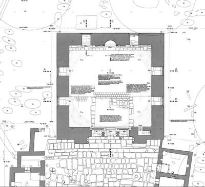 20. Kare planlı, tek kubbeli caminin planı